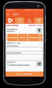 SZOP - aplikacja mobilna